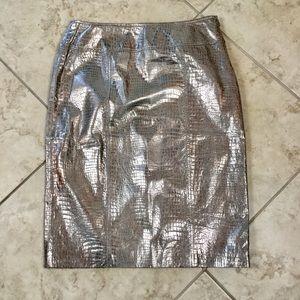 Newport News Leather Skirt Size 8